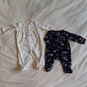Carter's One Pieces - 7 Piece Baby Girl Bundle - Newborn Size Sleepers